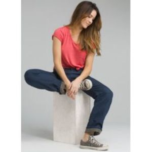 PRANA Indigo Lined Straight Leg Boyfriend Jeans